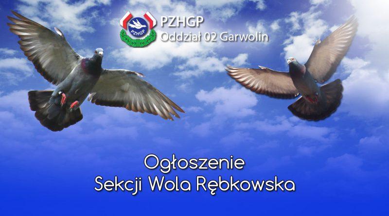 Ogłoszenie Sekcji Wola Rębkowska